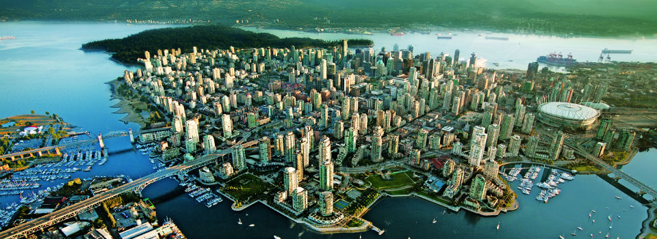 Vancouver city aerial slider Anago