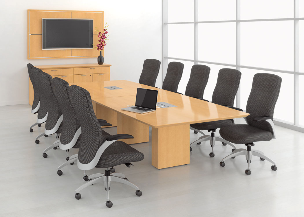 Big and clean conference room Anago cleaning services