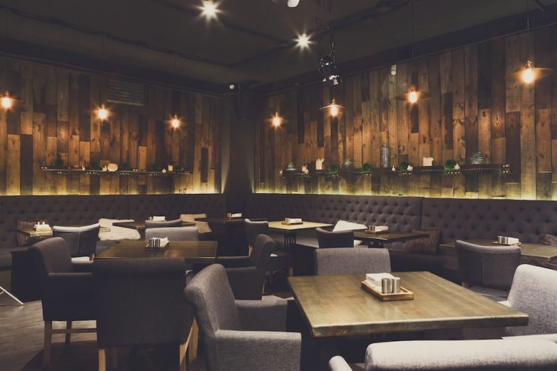 cozy wooden interior of restaurant-space Anago cleaning Services Vancouver