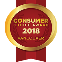 Winner of the Vancouver Consumer Choice Awards 2018