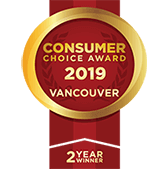 2 Year Winner of the Vancouver Consumer Choice Awards 2018 and 2019