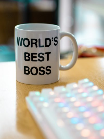 """Coffee mug with the text """"World's Best Boss."""