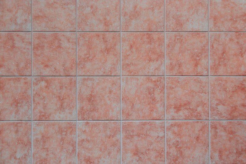 Marble-look tile flooring.